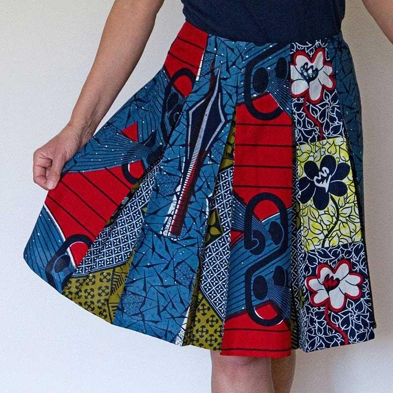 African wax skirt