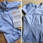 How to restyle a men's shirt in a women's top